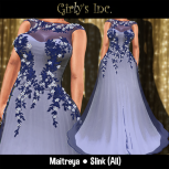 __Girly's Inc.__ Belle Gown - Navy